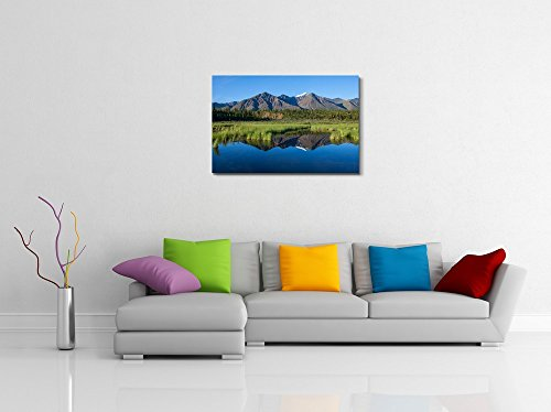 Mckinley Reflection in Lake on Alaska Home Deoration Wall Decor ing