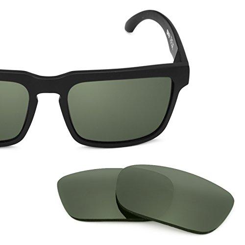 Verres de rechange pour Spy Optic Helm — Plusieurs options Gris Vert - Non-Polarisés