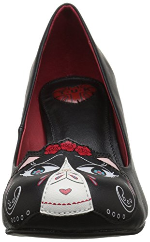u Of Ankle Women's Pumps Strap Black Patch k T Dead Day The Kitty ZqggwRd