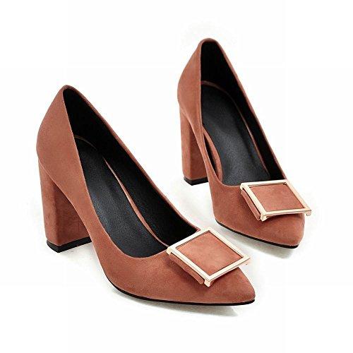 Carolbar Mujer's Pointed Toe Sexy High Heels Vestido De Fiesta Bombas Zapatos Marrón Claro