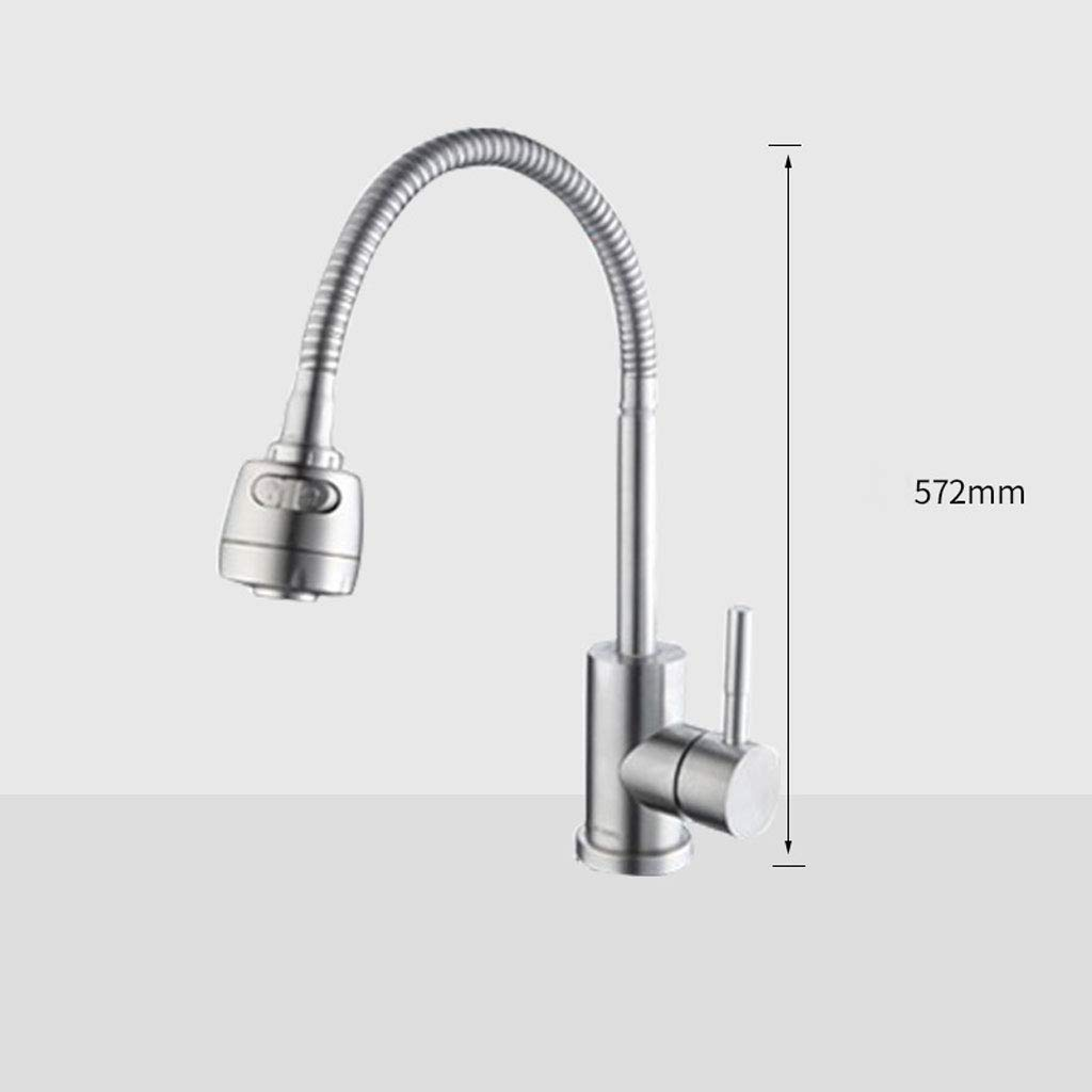E LXKY 304 stainless steel faucet, sink faucet hot and cold, kitchen sink faucet stainless steel - for kitchen bathroom,C