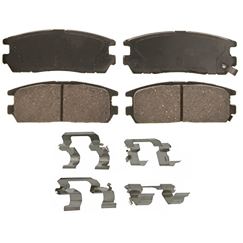 Wagner QuickStop ZD580 Ceramic Disc Pad Set, Rear (Pad Brake Trooper Rear)