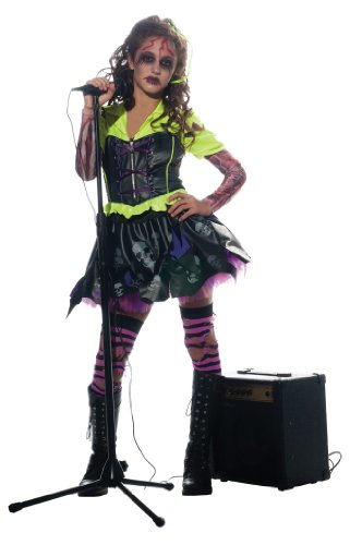 Girl Zombie Punk Rocker #3 Costume, (Punk Rocker Girl Halloween Costumes)