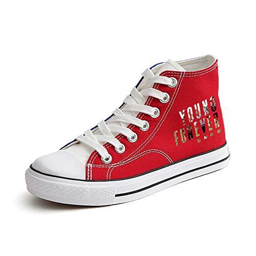 Parejas Bts Para Red83 Casuales Elásticos Avanzados Zapatillas Cordones Ligeras Zapatos Unixsex Con 0wOPq0vr