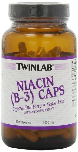 Twinlab Niacin 1000mg Capsules Pack