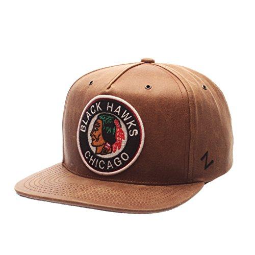 Nhl Chicago Blackhawks Leather - NHL Chicago Blackhawks Men's Dynasty Snapback Hat, Adjustable, Leather