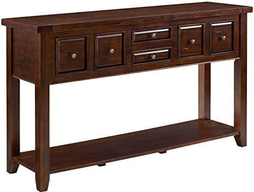 Crosley Furniture Sienna Entryway Table - Rustic Mahogany
