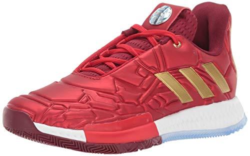 adidas Men's Harden Vol. Baseball Shoe, Scarlet/Collegiate Burgundy/Gold, 6.5 Medium US Big Kid