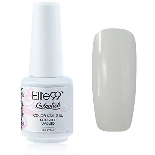 Elite99 Gelpolish Soak-off Gel Nail Polish UV LED Nail Art French White 8ml 1323 (Shellac Nail Polish French)
