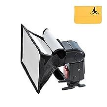 Godox 20*30cm Universal Collapsible Mini Flash Diffuser Softbox for Neewer, Godox, Canon, Nikon Flash Like V850 V860 etc