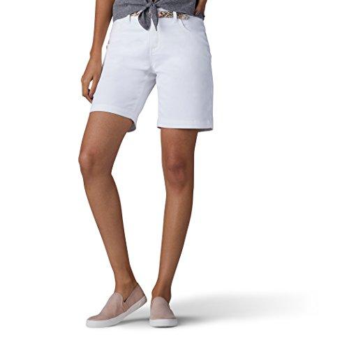 LEE Women's Midrise Total Freedom Bradbury Belted Walkshort, White, 8