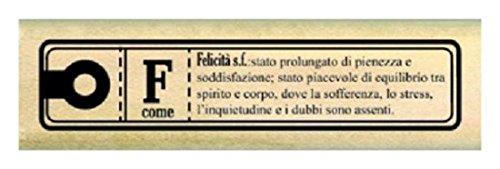 Florileges Design FIB212061 timbro Scrapbooking Piccola giorno Felicita Beige, 2 x 7 x 2,5 centimetri Florilèges Design