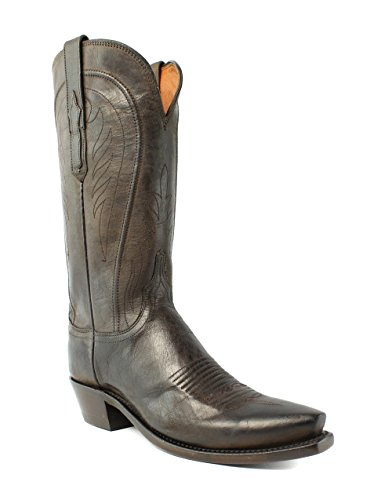 Lucchese N4765.54 Willa Donna Cowboy In Pelle Color Cioccolato, Stivali Western