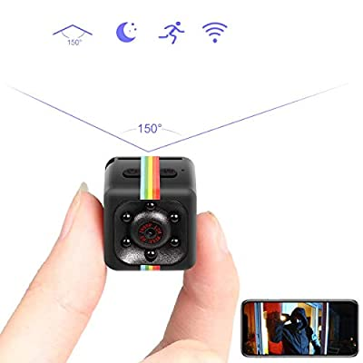 Mini Spy Hidden Camera, Catnee Spy Camera Wireless Hidden Cameras 1080P Portable Small HD Nanny Cam with Night Vision and Motion Detective, Indoor Covert Security Cameras for Home and Office from catnee
