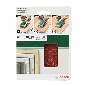 Bosch Sanding Sheet Set 115mm x 140mm G60 10pc