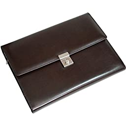 Royce Leather Aristo Genuine Leather Padfolio File Organizer (Chestnut Brown)
