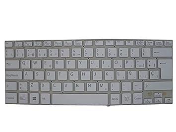 RTDpart Teclado para portátil para Sony VAIO SVF14 MP-12Q16E0-9201 149236871ES AEHK8P012203A SP español Blanco: Amazon.es: Electrónica