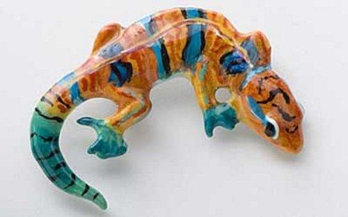 Peint à la main ~ ~ Gecko Pin's (épinglette/Broche ~ ap060