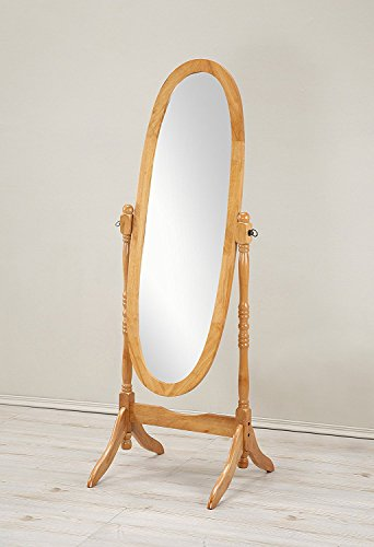 Crown Mark Cheval Mirror, Brown (Oval Oak)