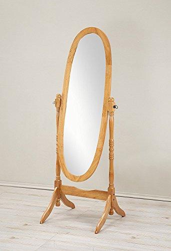 Crown Mark Cheval Mirror, Brown (Oval Oak) ()