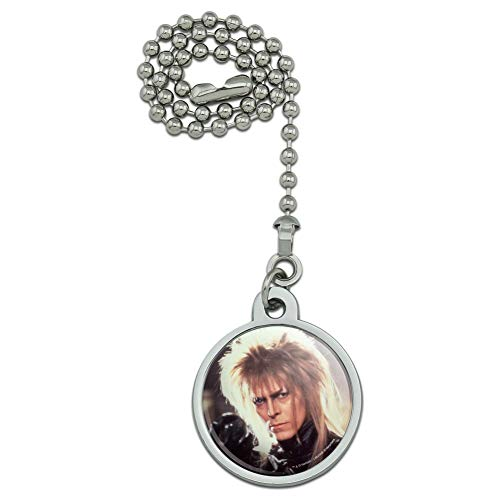GRAPHICS & MORE Labyrinth Goblin King Crystal Ball David Bowie Jareth Ceiling Fan Light Pull Chain ()