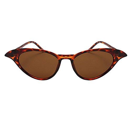 Estilo UV400 Gafas Unisex Sol marco Gato Protección para leopardo marrón de Vintage Anteojos de Lente Lente marrón Magideal Marco Hombre Metal Mujer leopardo de Ojos marco cw7qfwAP
