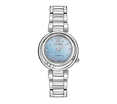 Citizen Women's Eco-Drive Stainless Steel Diamond Sunrise Watch