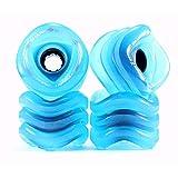 Shark Wheel Sidewinder 70mm 78A All-Terrain Skateboard Longboard Wheels, Blue