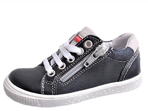 237072809f91 ennellemoo® Mädchen-Kinder-Halbschuhe-Sneaker- Echt Leder-Glitzer-Schuhe-Reißverschluss-Schnürer.Premiumschuhe  - Vollleder!!