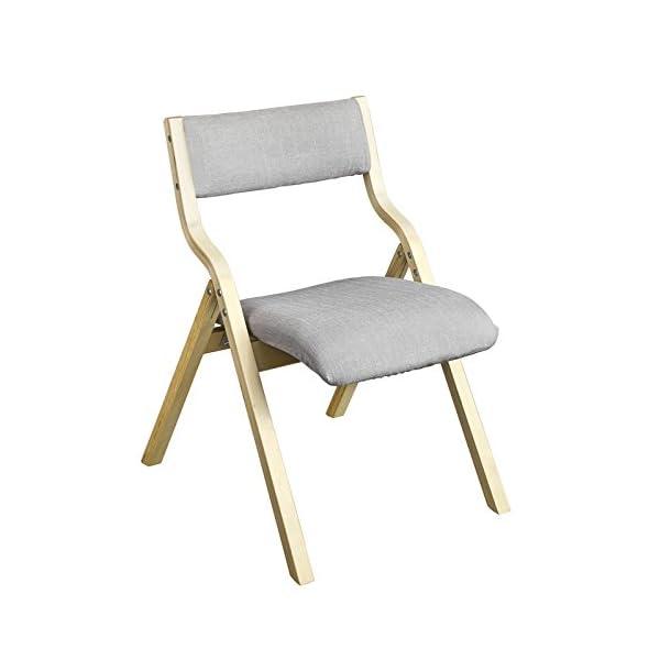 SoBuy® FST40-HG Chaise pliante en bois avec assise rembourrée, Chaise pliable pour Cuisine, Bureau, etc.