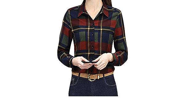 Reooly Camisa de la Moda de Las Mujeres de Negocios de ...