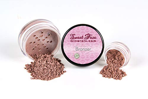 - BRONZER Mineral Makeup Bronzing Tanning Powder Bare Face Sun Glow Foundation (5 gram Sample Jar)