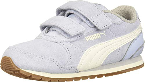 PUMA Baby ST Runner Velcro Sneaker, Heatherwhisper White-Gray Violet, 10 M US Toddler (Puma Shoes Toddler)