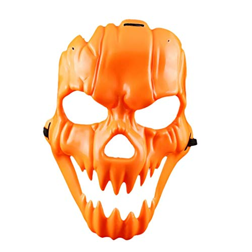 YJYDADA Halloween Smiling Face Plastic Mask Fancy Dress Party Funny Dress up Props]()