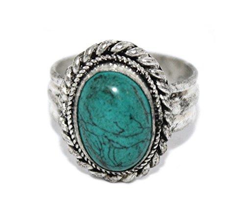 Turquoise Ring, Tibetan Ring, Nepal Ring, Gypsy Ring, Boho Ring (Tibetan Turquoise Ring)