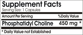 Phosphatidylcholine Phosphatidyl Choline 450mg // 200 Capsules // Pure // by PureControl Supplements