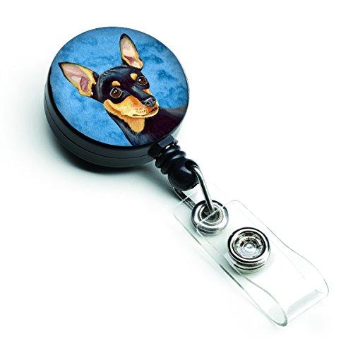 Caroline's Treasures Blue Min Pin Retractable Badge Reel, Multicolor (LH9380BUBR)
