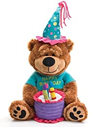 Adorable Happy Birthday Teddy Bear With Cake That Plays