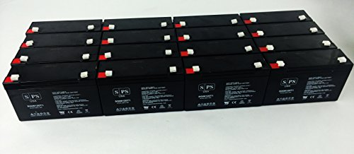 6V 12Ah F1 Replacement Batteryfor PE6V12 -SPS BRAND (16 Pack) by SPS
