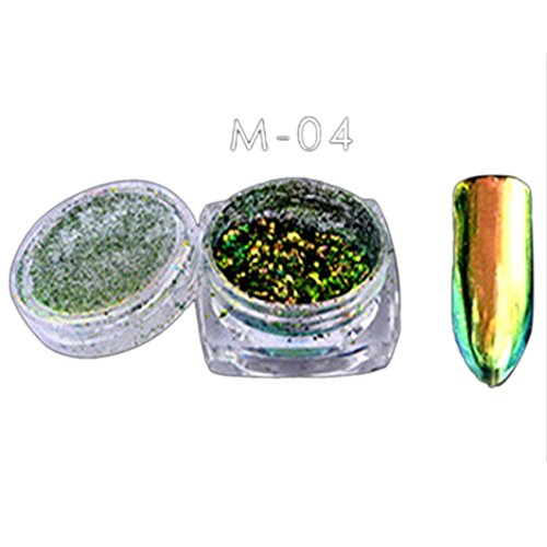 DIY Nail Art Decoration WuyiMC 6 Colors Powder Flakes Nail Bling Mirror Shimmer Powder Nail Art Different Designs Glitter Decora Nail Art Supplies For Women