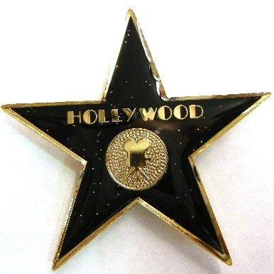 (Black Glitter Hollywood Walk of Fame Star Magnet)