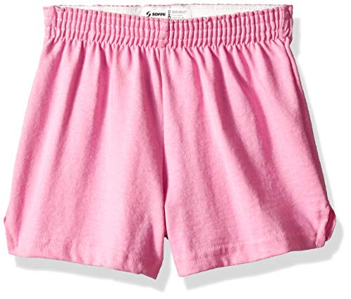 (Soffe MJ Big Girls Basic Cheer Short, Washed Pink, Medium)
