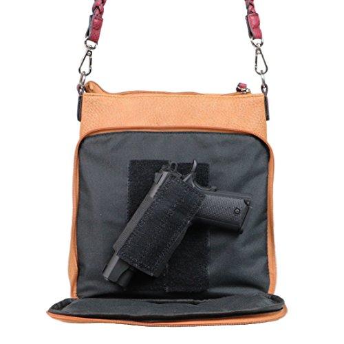 Trim Concealed by Gun Body Bag Organizer Burgundy Cinnamon Braided Locking With Lady Carry Lorelei Conceal Cross Purse YKK gnrTUqgR