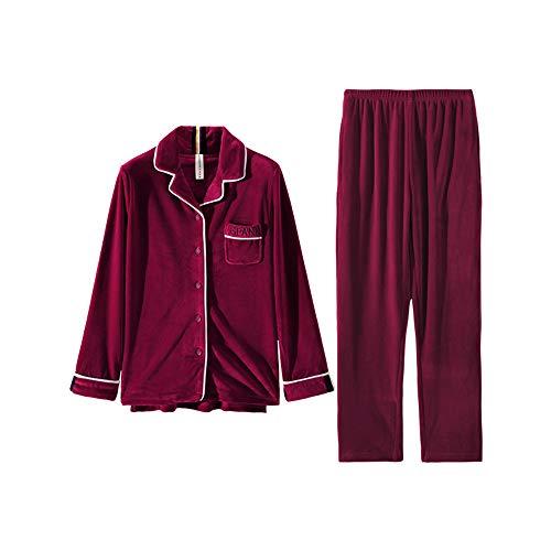 Dos Otoño Piezas Female Pijamas Invierno E Mmllse Mujer Cachemira De qZBwOxS0