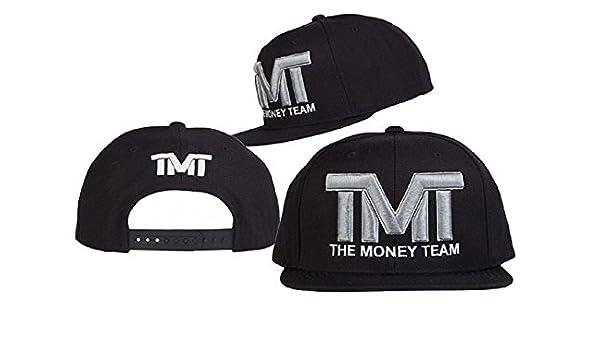 2017 TMT The Money Team Snapback Hat (Black, Gray Logo): Amazon.es ...
