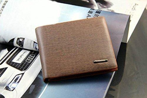 DDLBiz® Männer Brown Kaffee Leder-Mappen-Karten-Geldbeutel Brieftasche