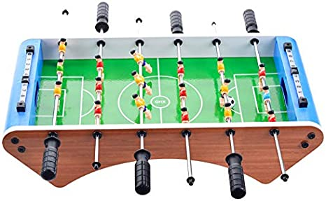 SHMZQ Mini Mesa de fútbol para niños, Marco de Madera para el ...