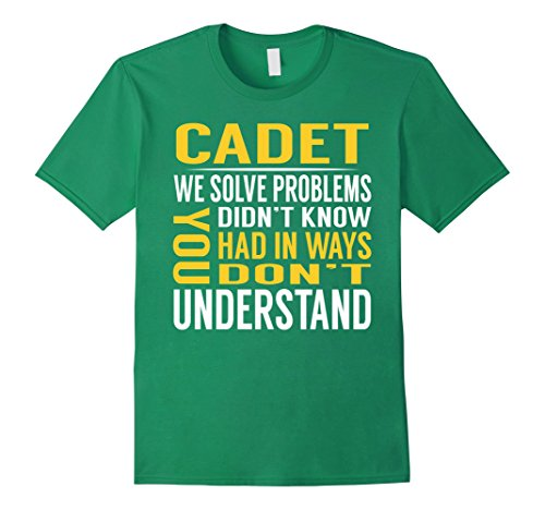 Cadet Kelly Costume (Mens Cadet Solve Problems TShirt Small Kelly Green)