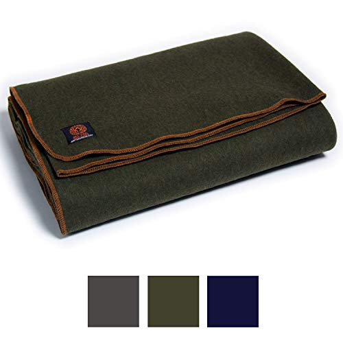 - Arcturus Military Wool Blanket - 4.5 lbs, Warm, Thick, Washable, Large 64
