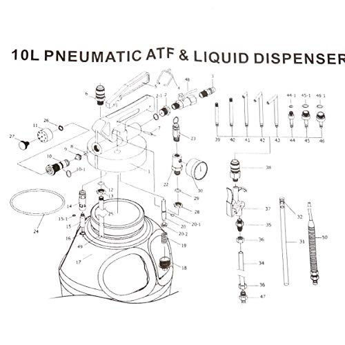 8MILELAKE 10L Two Way Pneumatic ATF Oil and Liquid Extractor with 14 pcs ATF Adapters Refill System Kit by 8MILELAKE (Image #4)